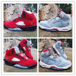 Designer names online shopping - without Box Trophy Room x Basketball Shoes Ice Blue Red Parent child joint name Designer Original Fashion Athletic Sports Sneakers