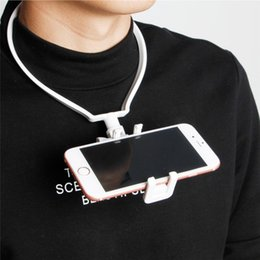 Hands Free Phone Holder Australia - Hands-Free Phone Stand Wearable Hang On Neck Holder Mount Kit For iPhone Samsung Action Camera Camcorder