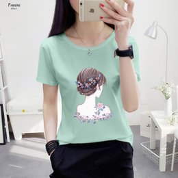 Cute loose girl shirts online shopping - Girls Shirts Hot Short Sleeve T Summer New Cute O Neck Print T Shirt For Female Loose Lady Tops Tees