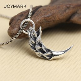 thai pendants Australia - Retro Thai Silver Feather Eagle Claw Personalized Pendant Men's Necklace Charms Pendant S925 Sterling Silver Jewelry TSP236