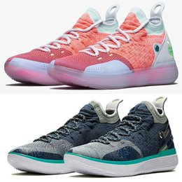 $enCountryForm.capitalKeyWord NZ - 2019 New Kd 11 Ep White Orange Foam Pink Paranoid Oreo Ice Basketball Shoes Original Xi Kd11 Mens Sneakers Shoes Size 40-46