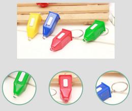 $enCountryForm.capitalKeyWord Canada - HYS241 1000pcs Pagoda Type Counterfeit Light LED Keychain Counterfeit Light Blue Small flashlight Keychain Small Gift For life Use Mix Color