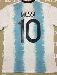 AmericA jerseys sAle online shopping - 2019 Copa America Argentina Home Blue White Soccer Jersey MESSI Soccer Shirt AGUERO short sleeve football uniform Sales S XL