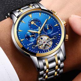 $enCountryForm.capitalKeyWord Australia - Lige Mens Watches Top Brand Luxury Automatic Mechanical Watch Men Full Steel Business Waterproof Sport Watches Relogio Masculino Y19070603