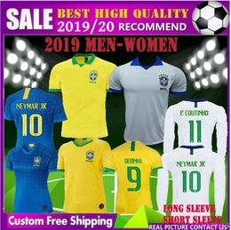 cd0c6735fab men Long short sleeve 19 20 new women world cup Brazil soccer jersey 2019  2020 FORMIGA COUTINHO MARTA DEBINHA ADRIANA Brasil football shirt