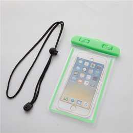 $enCountryForm.capitalKeyWord Australia - Universal PVC Waterproof Phone Case Bag For iPhone X Samsung S10 Cell Phone Waterproof Dry Bag Up to 6.5 Inch With Lanyard