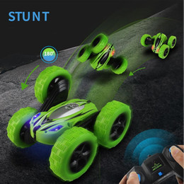 10pcs RC Car 2.4G 4CH Stunt Drift Deformation By Car Rock Crawler Roll Car 360 Degree Flip Kids Robot RC Cars Toys for Gifts by Hope12 on Sale