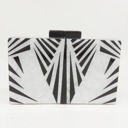 $enCountryForm.capitalKeyWord NZ - Geometric Print Women's Fashion Evening Bag Hardcase Acrylic Box Clutch Chain Shoulder & Crossbody Handbag Purse MIL1114