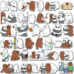 $enCountryForm.capitalKeyWord Australia - Wholesale 36Pcs-Pack Stickers Cartoon Cute Bear Waterproof Skateboard Laptop Stickers Laptop Notebook Kids Teens stickers