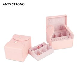 $enCountryForm.capitalKeyWord Australia - portable princess small jewelry box marry birthday present ouble layer earring storage boxes