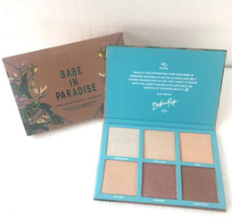 waterproof palette UK - Newest makeup Face Highlighter 6colors Palette Babe IN Paradise Bronzers & Highlighters High quality cosmetic Makeup