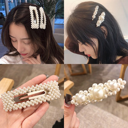 Wholesale women hair clips Korean design ins pearl hair clip in mixed models high quality hair clip for women in various designs