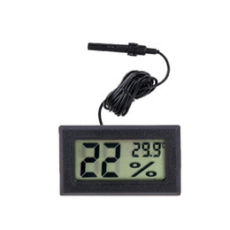 digital humidity temperature monitor thermometer UK - Mini Digital Electronic LCD Thermometer Sensor Hygrometer Gauge Refrigerator Aquarium Monitoring Display Humidity Detector Temperature Meter