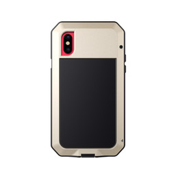 iphone heavy duty metal case Australia - Military Metal Bumper Silicone Case Full Body Cover Heavy Duty Hybrid Shockproof Armor Impact Rugged Tough Case for iPhone X