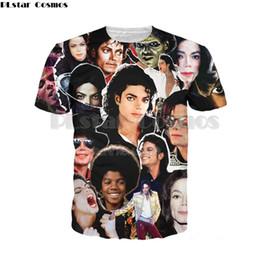 Discount rock t shirts wholesale - PLstar Cosmos 2019 Fashion Men Women T-shirt King of Rock and Roll Michael Jackson 3d print t shirt Boy singer star t sh