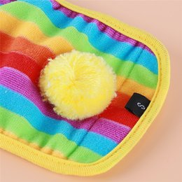 colorful diapers NZ - Rainbow Color Dog Warm Wool Colorful Physiological Pants Pet Dog Diapers Physiological Pants Pet Supplies