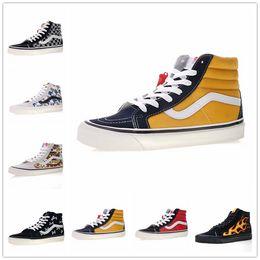 fdb15142f7 White Van Shoes Canada - 2018 vans SK8-Hi Classic Old Skool White Black  zapatillas