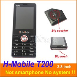 $enCountryForm.capitalKeyWord Australia - H-Mobile T200 2.8 inch Cheapest Mobile Phone Dual Sim Quad Band 2G GSM Phone Unlocked with big Flashlight torch speaker whats app DHL 20pcs
