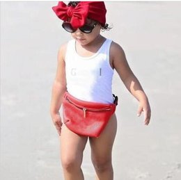 Beach Jumpsuit Girls NZ - Ins hot best selling high end one -piece baby girls jumpsuits swimwear printing letter swimsuit kids beach clothing