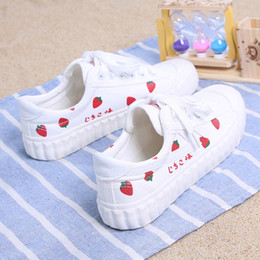 $enCountryForm.capitalKeyWord Australia - 2019 Thin Korean version of strawberry canvas shoes Fashion student comfortable sneakers Spring and autumn breathable casual shoes