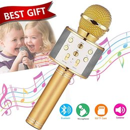 best wireless karaoke microphone NZ - Wireless Bluetooth Karaoke Microphone - Best Toy Gift for 5-15 Year Old Girls Boys,Niskite Handheld Portable Singing Karaoke Mic For Kids Ad