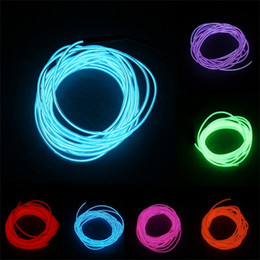 NeoN light clothiNg online shopping - New Color M Flexible Neon Light Glow EL Wire Rope Tape Cable Strip LED Neon Lights Shoes Clothing Car waterproof LED Strip