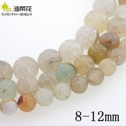 jade beads loose stones UK - Natural Stone 4-14mm Crack Agate Round Loose Beads DIY Accessories Making Woman Girl Gift Christmas Wedding Necklace Bracelet Wholesale