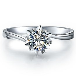 $enCountryForm.capitalKeyWord UK - Popular Style Solid 585 Gold 1ct Synthetic Diamonds Anniversary Ring Best Birthday Girl Nice New Year Gift For Mum C19041501