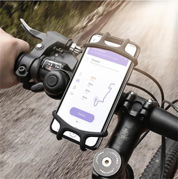 Wholesale Universal Bike Bicycle Motorcycle Handlebar Mount Holder Phone Holder With Silicone Support Band For Iphone Samsung Android Smartphone