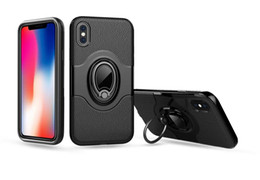 Navy Blue Iphone Cases UK - Aicoo Armor Magnetic Ring Car Kickstand Holder Case for iPhone XS MAX X 8 7 6S Plus Samsung Note 9 S10 S9 A6 J3 J7 2018 J5 Pro OPP