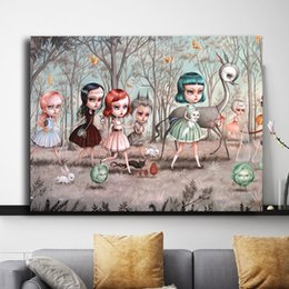 $enCountryForm.capitalKeyWord NZ - Mark Ryden Childish Strange Dark World Art Canvas Poster And Print Canvas Painting Decorative Picture For Office Living Room Home Decoracion