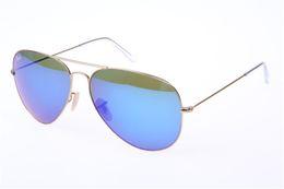 Mens Wholesale Sun Glasses Australia - 2019 Top-selling Classic Pilot Sunglasses Designer Brand Mens Womens Sun Glasses Eyewear Gold Metal Green 58mm 62mm Glass Lenses Brown Case