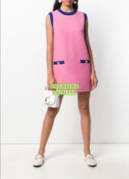 Girls Vest Shirt Australia - High End Women Vintage Letter Button Shirt Dress Girls Crew Neck Vest Dress Female Runway Mini Brief Shirt Skirt Vest Pencil Dress 2019