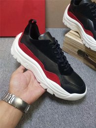 Quality Lace Luxury NZ - Men Shoes Flat With Top Quality Designer Sneakers Luxury Designer Shoes Fashion Brand Lace Up Casual Shoes Size 38-45