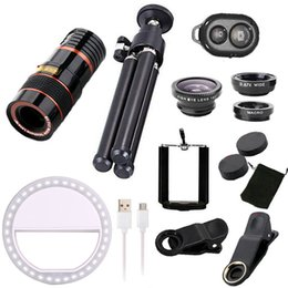 $enCountryForm.capitalKeyWord Australia - Girlwoman 9 In 1 Kits 12x Zoom Telephoto Lens Fish Eye Lens Wide Angle Macro Lenses Cell Phone Mobile Tripod For Xiaomi Redmi J190704