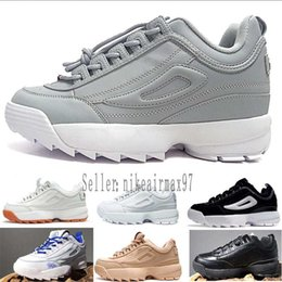 b70de6781a62 2018 Disruptors II 2 X Raf Simons Mens Women Thick soles white sneaker Big  Sawtooth Ladies Thick Bottom height increased Running Shoes