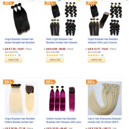 Mink Virgin Human Hair Bundles Unprocessed Brazilian Indian Malaysian Human Hair Weaves Extensions Factory on Sale