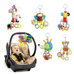 Musical baby crib hanging online shopping - Baby Butterfly Stroller Rattles Infant Crib Mobile Plush Handbell Toddler Musical Doll Bed Hanging Toys with Teether