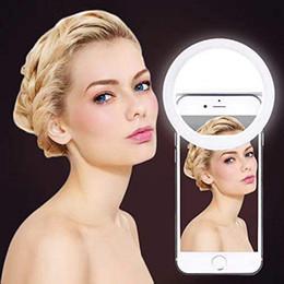 anel de luz USB selfie maquiagem luz LED vídeo ringlight iluminação fotográfica com anel de carga ringlight para iPhone foto telefone em Promoção