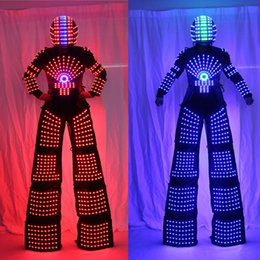 robot suit costume 2020 - RGB Flashing LED Costume  LED Stilts Walker  Light suits  LED Robot suits  Kryoman robot  david guetta robot with Helmet