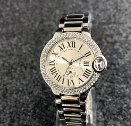 $enCountryForm.capitalKeyWord Australia - New Fashion Style Women man Watch Lady Silver Diamond Wristwatch Steel Bracelet Chain Luxury Lover Watch Folding Lock free shipping