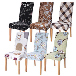 $enCountryForm.capitalKeyWord Australia - 1 Pcs Floral Print Chair Cover Home Dining Elastic Chair Covers Multifunctional Spandex Elastic Cloth Universal Stretch Party 7
