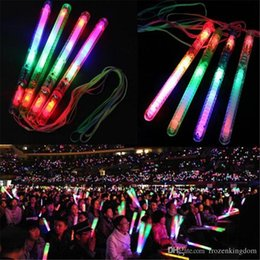 light stick glowing wand NZ - Multi Colorful 7 Modes LED Flashing Night Light Lamp Glow Wand Sticks + strap Birthday Christmas Party festival Camp 2019032713