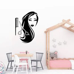 hair salons designs NZ - New Design Barber Shop Sticker Hair Vinyl Wall Stickers For Beauy Salon Wallpaper Hairstyle Wall Decals sticker mural
