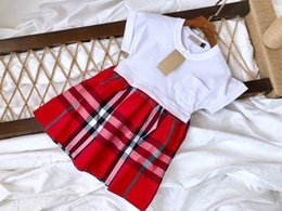 Product Brand Color Australia - Children's wear Women's clothing baby dress Young child 2019 new products Comfortable lovely Wholesale prices Checkeredat