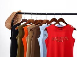 $enCountryForm.capitalKeyWord Australia - Summer Cotton Tank Tops Women Sleeveless Round Neck shoulder GOLDEN BUCKLE T Shirt Ladies Vest Singlets Paris Tees Casual Camis