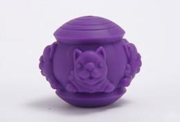Silicone Toys Australia - 1PCS Pet IQ Treat Ball Pet Silicone Leaking Puzzle Toy Ball Dog Fun Tumbler Leaking Food Ball Dog Self Feeding Toy