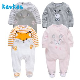 baby boy warm romper NZ - Kavkas Romper Warm Winter Long Sleeve Jumpsuit Plush Newborn Baby Girl Clothing Roupa De Bebes J190524