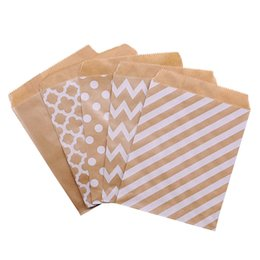Snack pack bagS online shopping - 25Pcs x13cm Kraft Paper Biscuit Candy Bags Gift Packing Pouch Birthday Party Decoration Dessert Candy Bar Bag Snack Cookie Bag