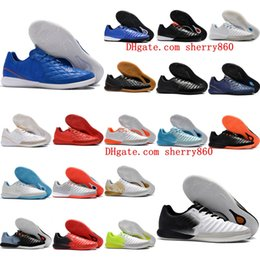 Discount indoor soccer shoes blue - 2019 new arrival soccer cleats TimpoX Finale IC soccer shoes Tiempo Legend VII MD indoor football boots mens botas de fu